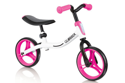 "Беговел ""Globber"" Go Bike white-pink"