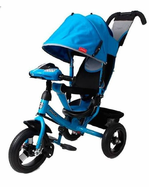 Велосипед Moby Kids Comfort 12x10 AIR Car 1 Blue